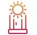 solarium line icon, vertical solarium cabin on white